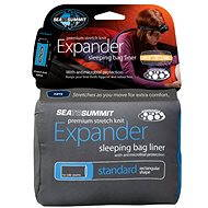 Sea to Summit Expander Liner Standart Pacific Blue - Entry into the sleeping bag
