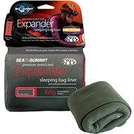Sea to Summit expander liner Long Eucalypt with Pillow - Entry into the sleeping bag