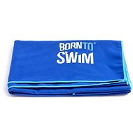 Born To Swim microfibre blue - Towel