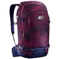 Salomon Side 25 Beet Red/Medieval Blue - Skiing backpack