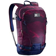 Salomon Side 18 Beet Red/Medieval Blue - Skiing backpack