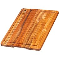 TEAK HAUS 514 Kitchen board rectangular 41x30.5x2cm - Breadboard
