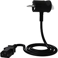 Tinen 230V C13 Innovative Push-Button Plug 1m Black - Extension Cable