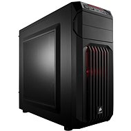 Corsair SPEC-01 Red LED Carbide Series black with transparent side panel - PC Case