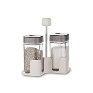 BANQUET Set of salt and peanut QUADRA 100ml, 3pcs, gray - Spice Container Set